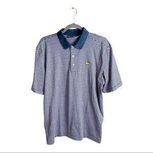 Masters Collection Striped Polo Shirt 100% Cotton
